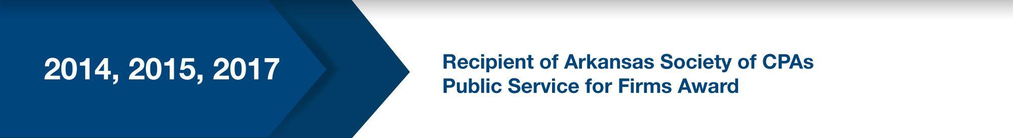 Recipient of ASCPA Public Service for Firms Award (2012, 2015)