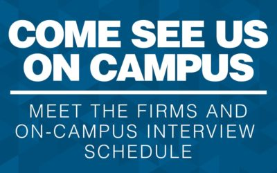 Meet the Firms and On-Campus Interviews Coming Up!